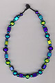 Dichroic square bead necklace